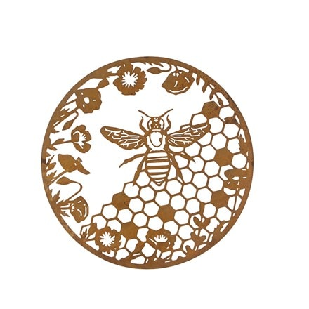 Honeycomb wall plaque
