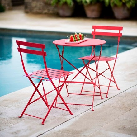Rive Droite steel bistro set- watermelon