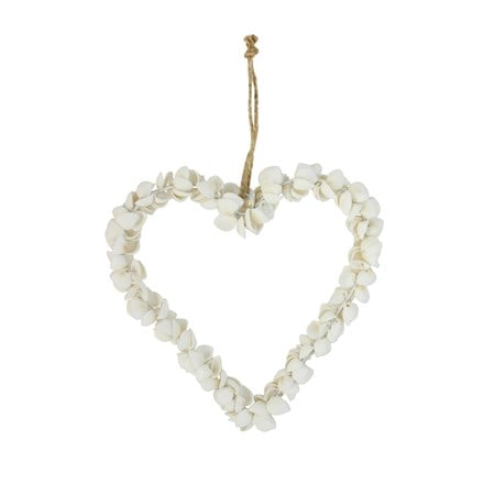 Shell heart wreath - large