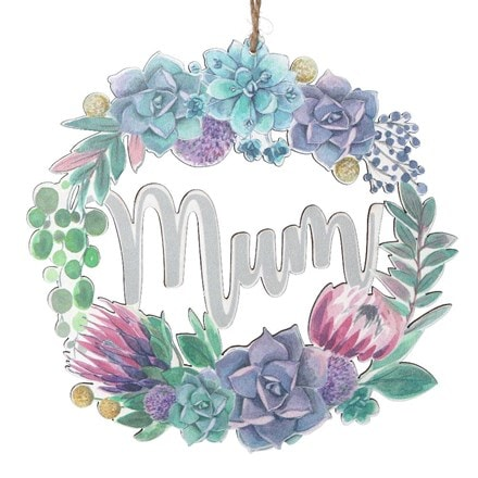 Desert blooms wood laser cut mum decoration