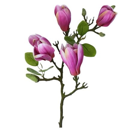 Artificial dark pink magnolia branch