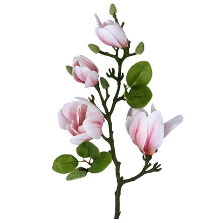 Artificial pale pink magnolia branch
