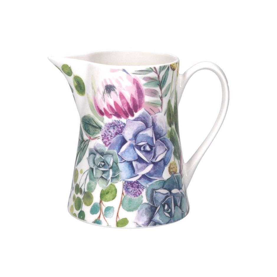 Desert blooms ceramic jug small