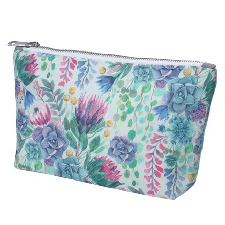 Desert blooms fabric makeup bag