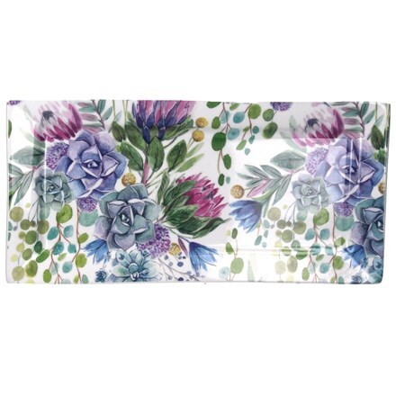 Desert blooms ceramic rectangular plate