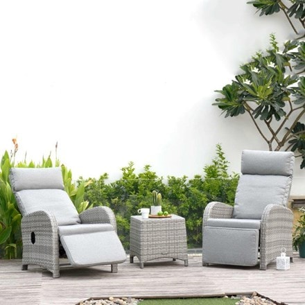 Lifestyle Garden Aruba recliner companion set