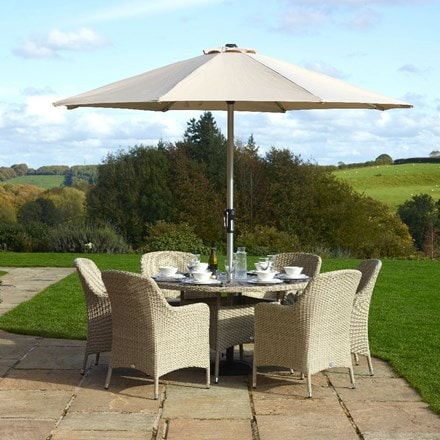 Al-fresco dining at home