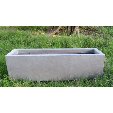 Window box light concrete grey planter