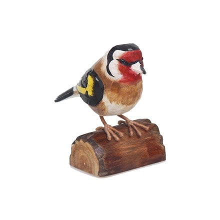 RSPB hand crafted wooden goldfinch