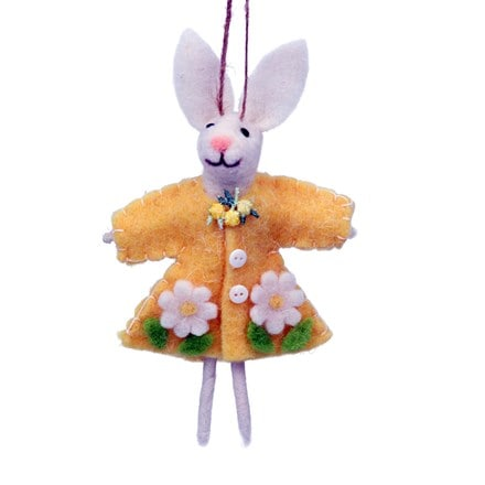 Mixed wool rabbit in yellow dress