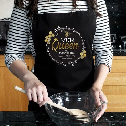 Personalised Mum Queen Bee apron