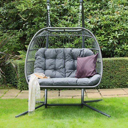 Eleanor double folding cocoon chair