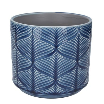 Navy wavy pot cover