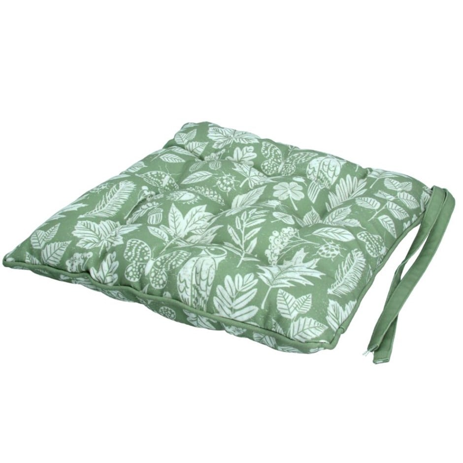 Fabric seat pad - green