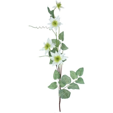 Artificial white clematis spray