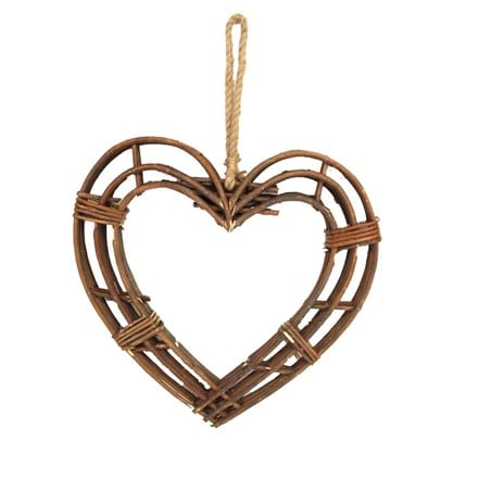 Heart frame twig wreath - medium