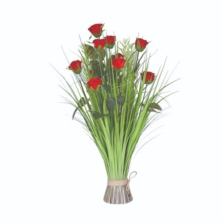 Artificial rose floral bundle
