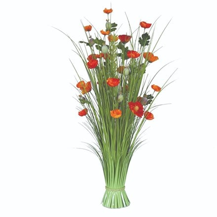 Artificial poppy floral bundle
