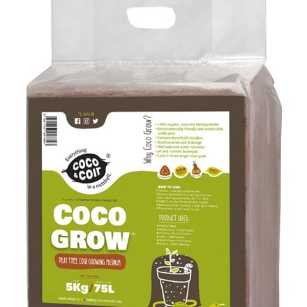 Expanding coco grow compost - 75 litres