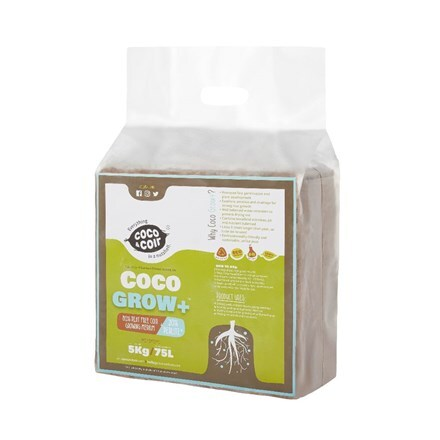 Expanding coco grow plus compost - 75 litres
