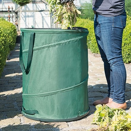 Pop-up hard base garden tidy