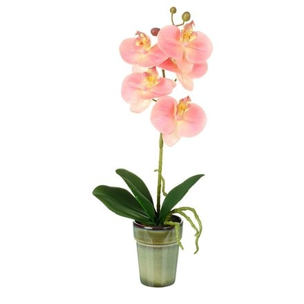 Potted artificial orchid phalaenopsis