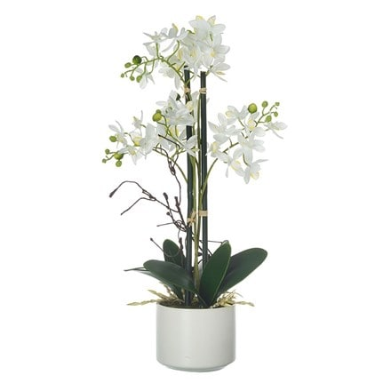Potted artificial phalaenopsis