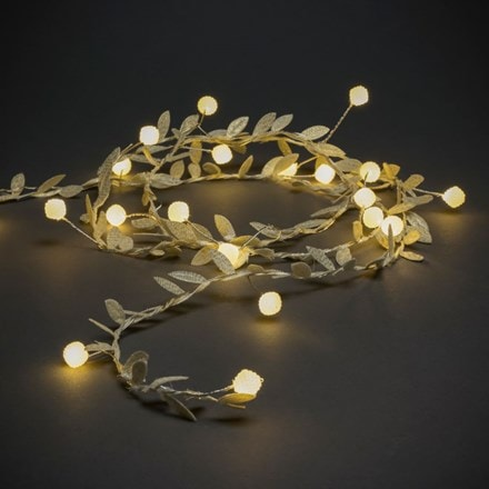 Gold leaves and pearls light set - 20 lights