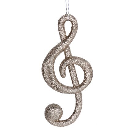 Pale gold glitter and acrylic music note