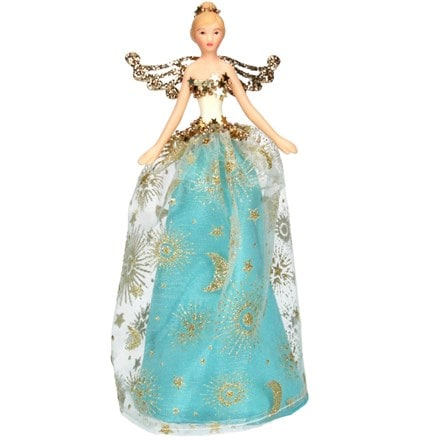 Celestial tree top fairy turquoise and gold