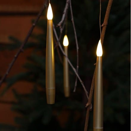 10 gold remote controlled magic candles