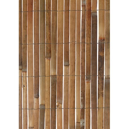 Natural bamboo slat screen
