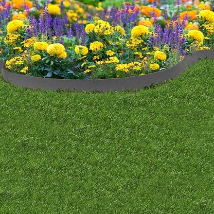Recycled garden border thin line
