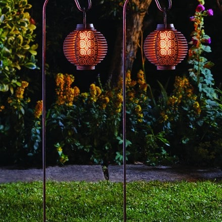 Forli flaming lantern pack of two
