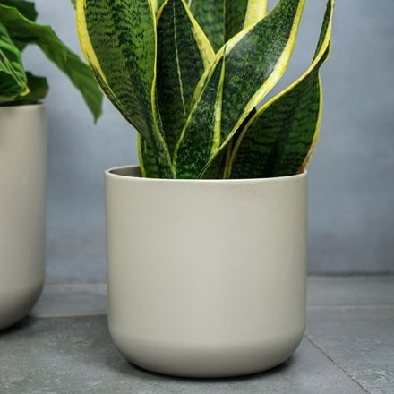 Lisbon planter light grey