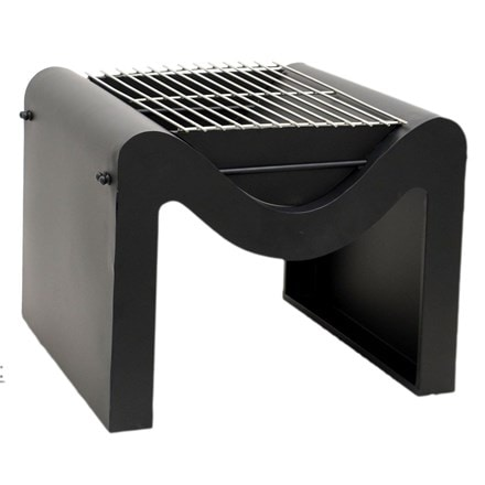 Outdoor metal Hexham fire pit with grill