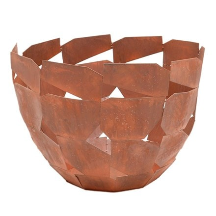 Outdoor metal industrial fire bowl rust