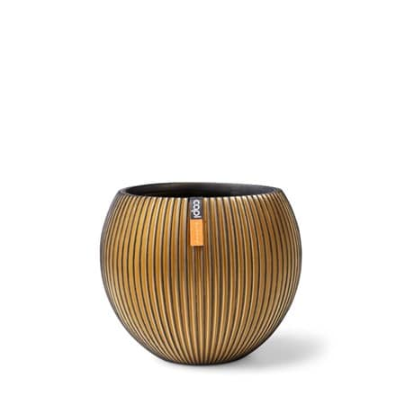 Cadix vase ball groove black gold