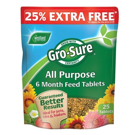 Gro sure all-purpose 6 month plant feed tablets