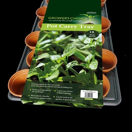 Propagation carry tray with pots - 9cm