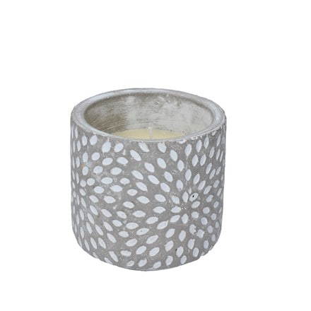 Sunburst citronella concrete candle pot