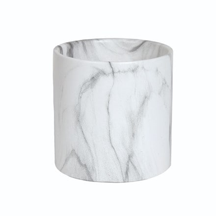 White marble effect planter