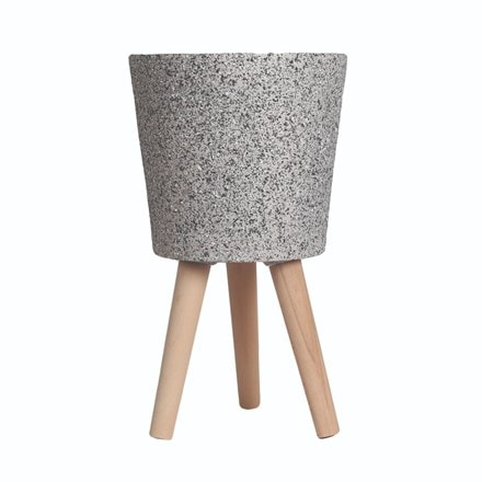 Granite effect planter