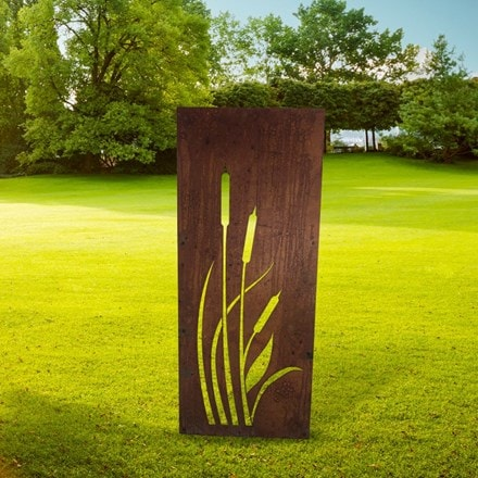 Bulrush decorative garden screen